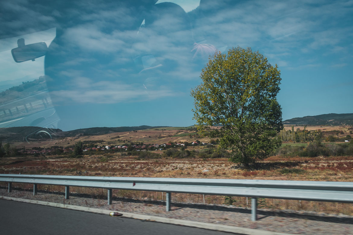 This photo is taken from the car on our way from Sofia airport to Bansko. Hoppa airport transfers. How to get from Sofia to Bansko Bulgaria.
