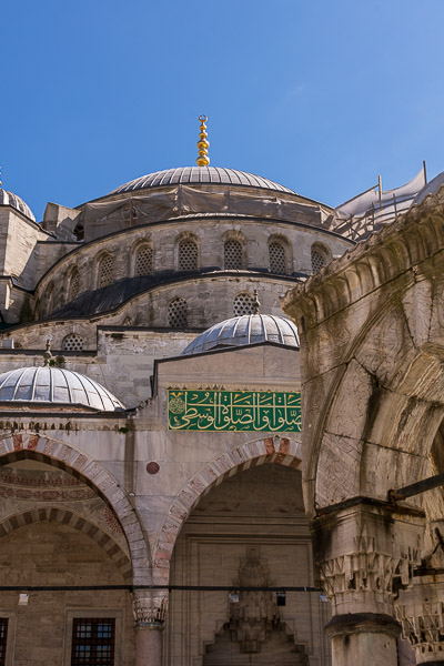 This is an up-close of the Blue Mosque.