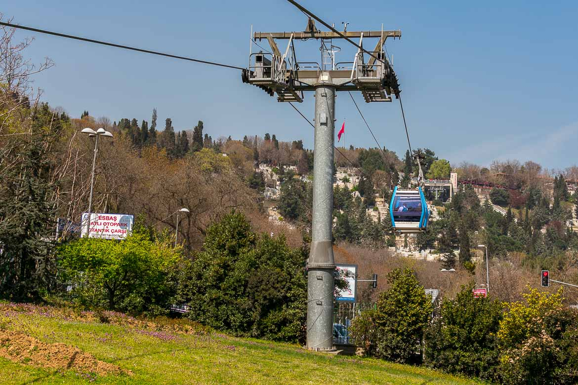 This photo shows the Pierre Loti Hill cable car.