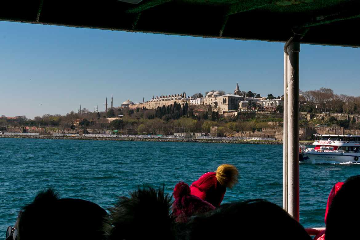 The Topkapi Palace as seen from the ferry.