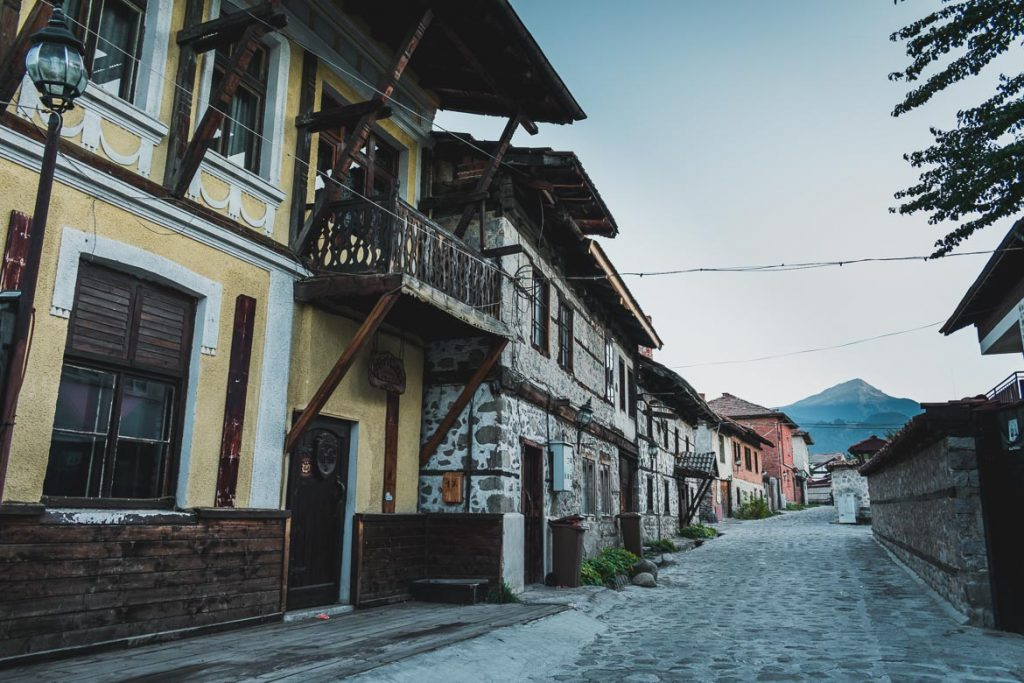 This is a photo of Bansko Old Town. Top things to do in Bansko apart from skiing.