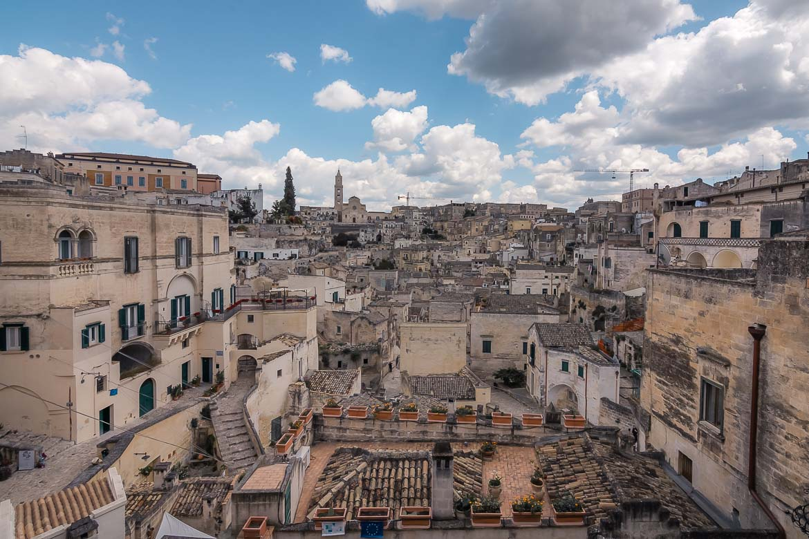This is a panoramic shot of the Sassi di Matera in Southern Italy.