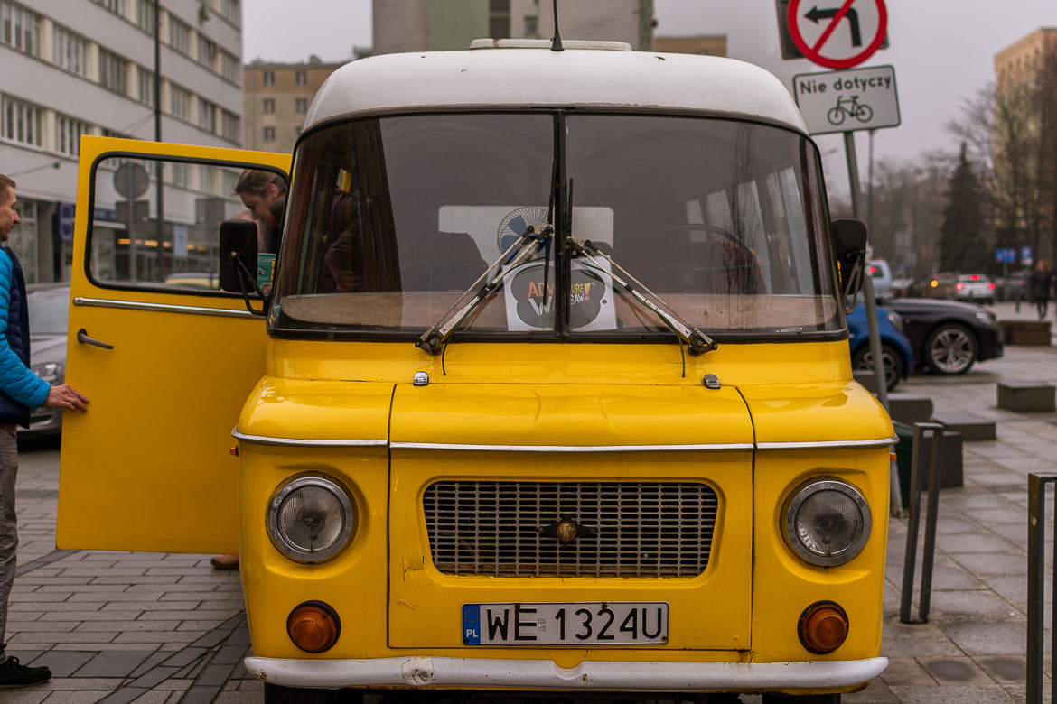 This is an authentic Polish Nysa van dating back to the country's communist era. Adventure Warsaw operate themed tours of Warsaw in Nysa vans. Winter in Warsaw. Top things to do and Warsaw city guide.