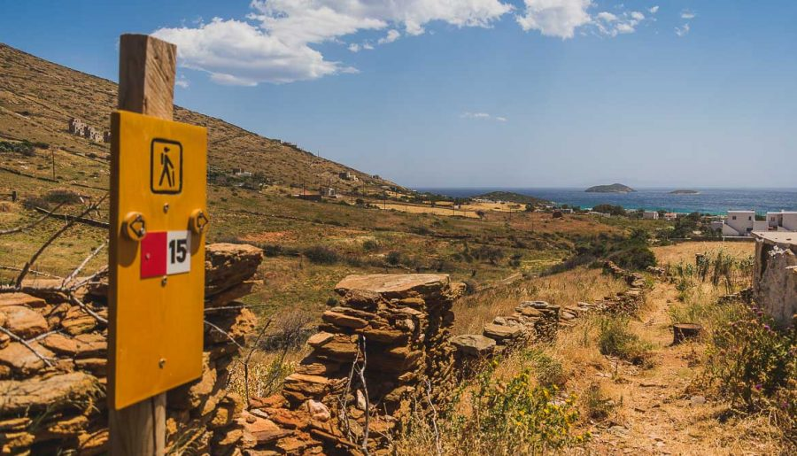 Hiking on Andros island