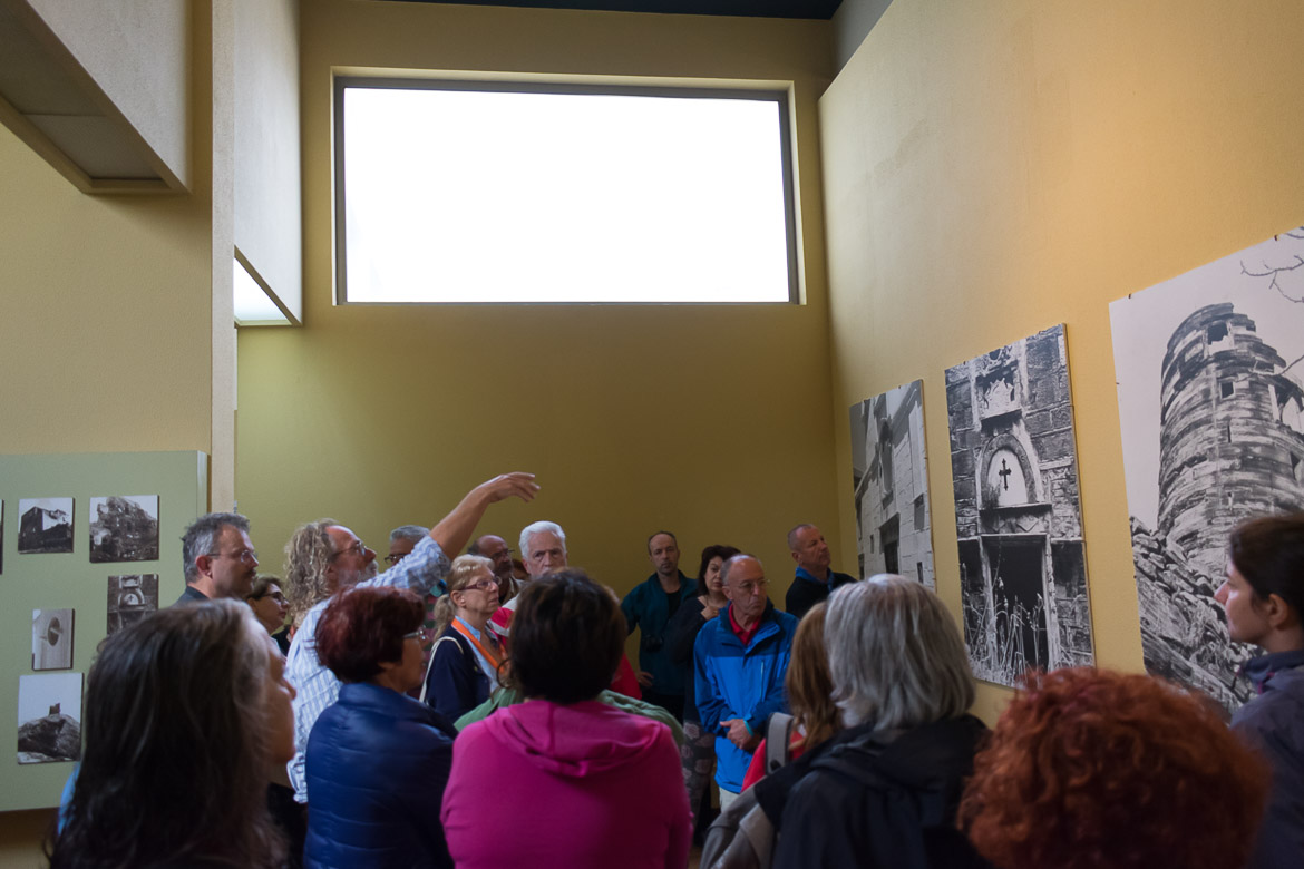 This photo was taken during a guided tour at the Archaeological Museum of Andros which took place during the 1st On Foot walking Festival.