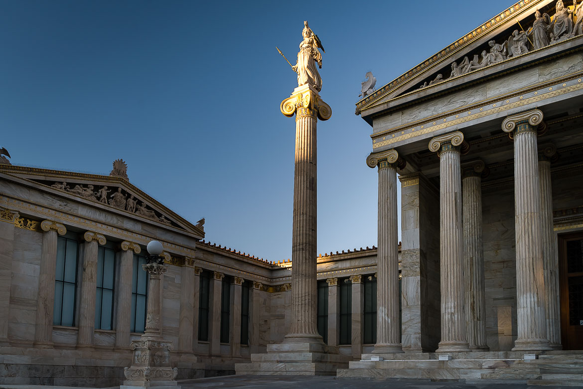 This image shows the Academy of Athens.