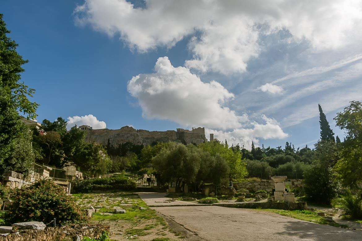 This image shows the Ancient Agora in Athens.