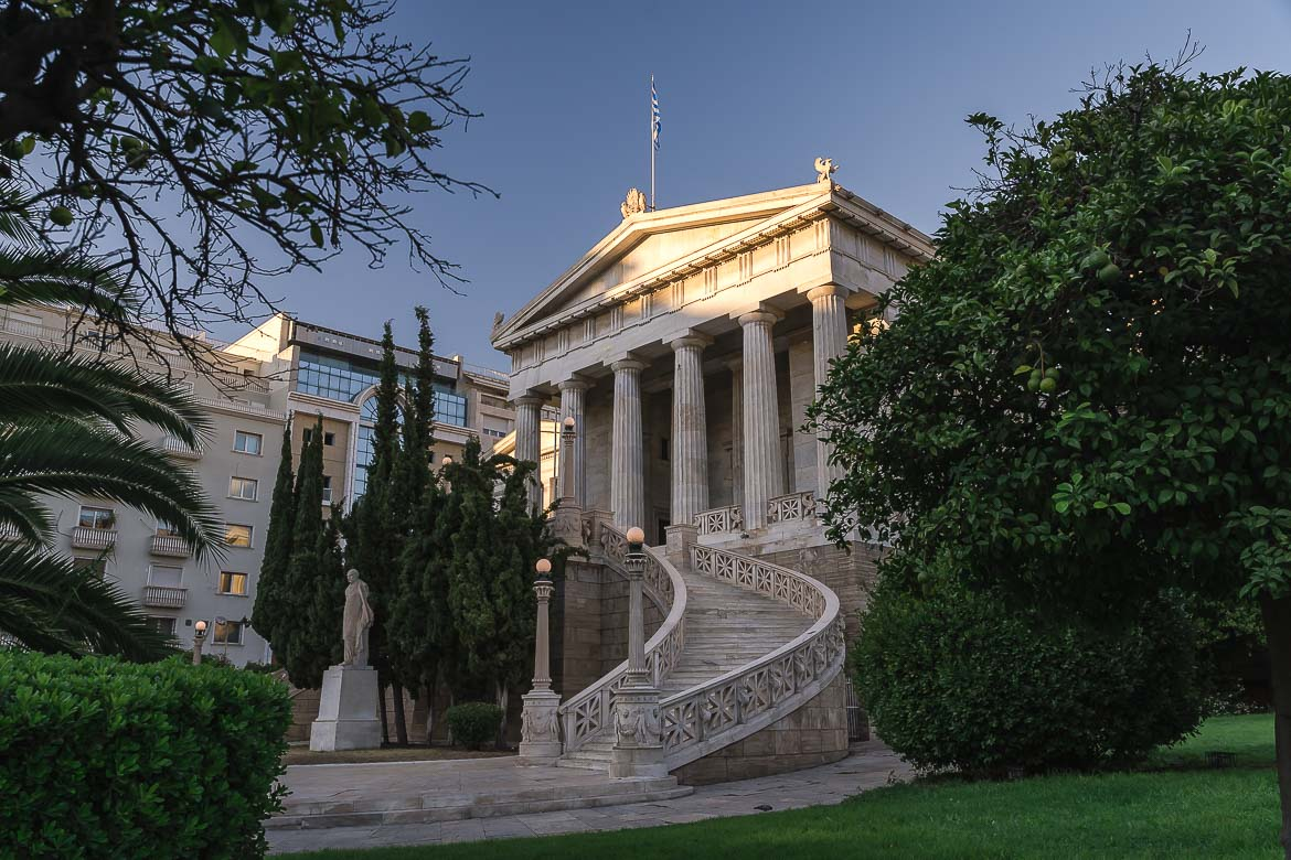 This image shows the National Library of Athens.