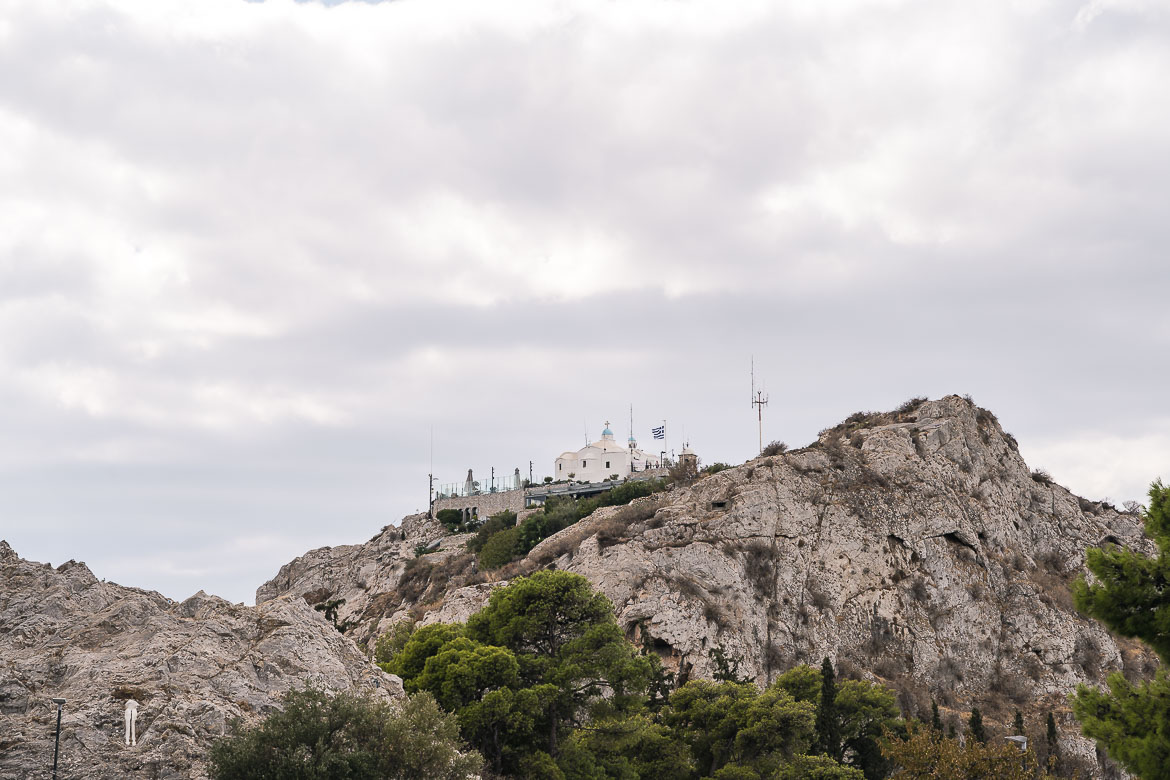 This image shows the church of Saint George on Lycabettus Hill.