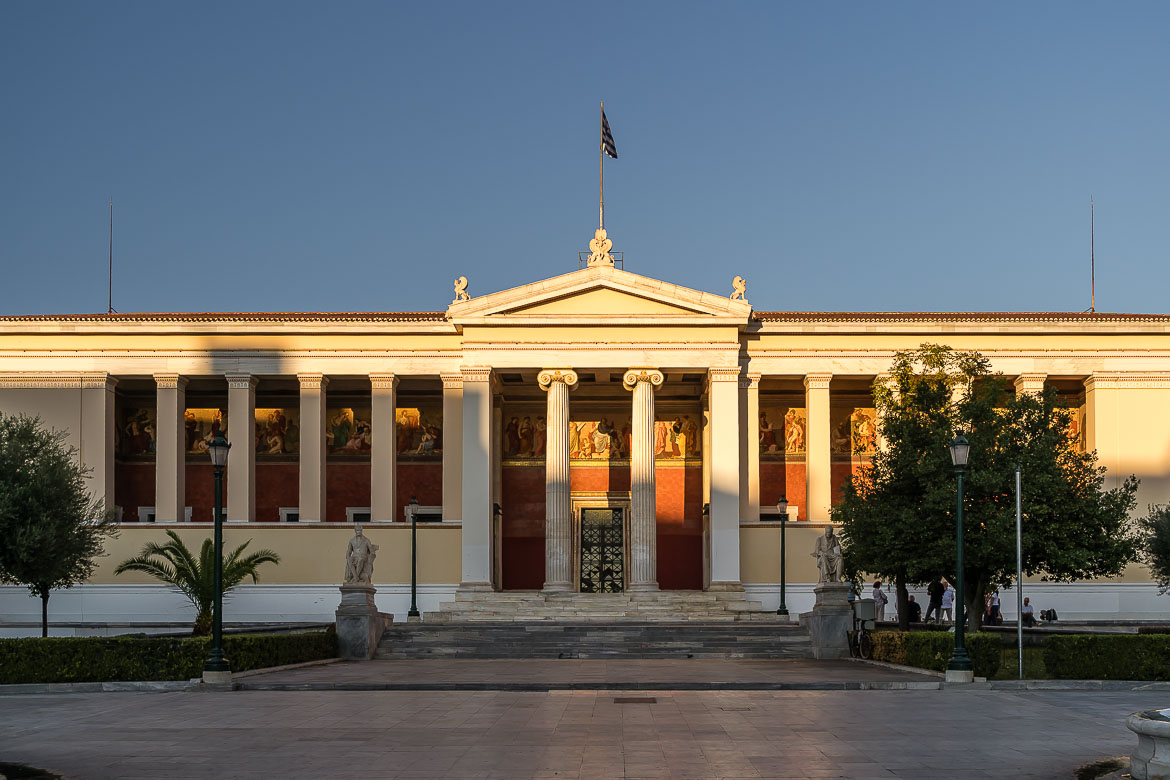 This image shows the Univerity of Athens.