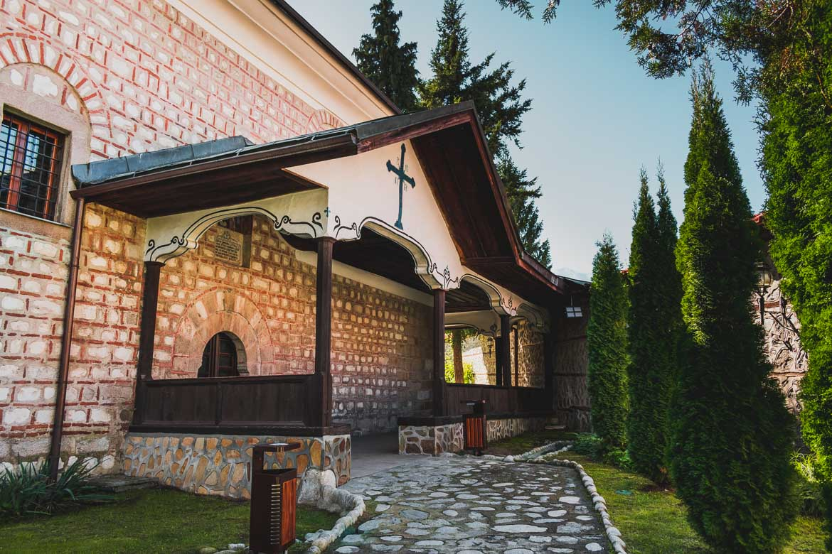 This is a photo of Holy Trinity Church in Bansko Bulgaria. Top five things to do in Bansko apart from skiing.