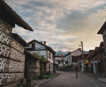 This is a photo of Bansko Old Town. Unconference explained: Experiencing Bloggers On Top 2018 in Bansko.