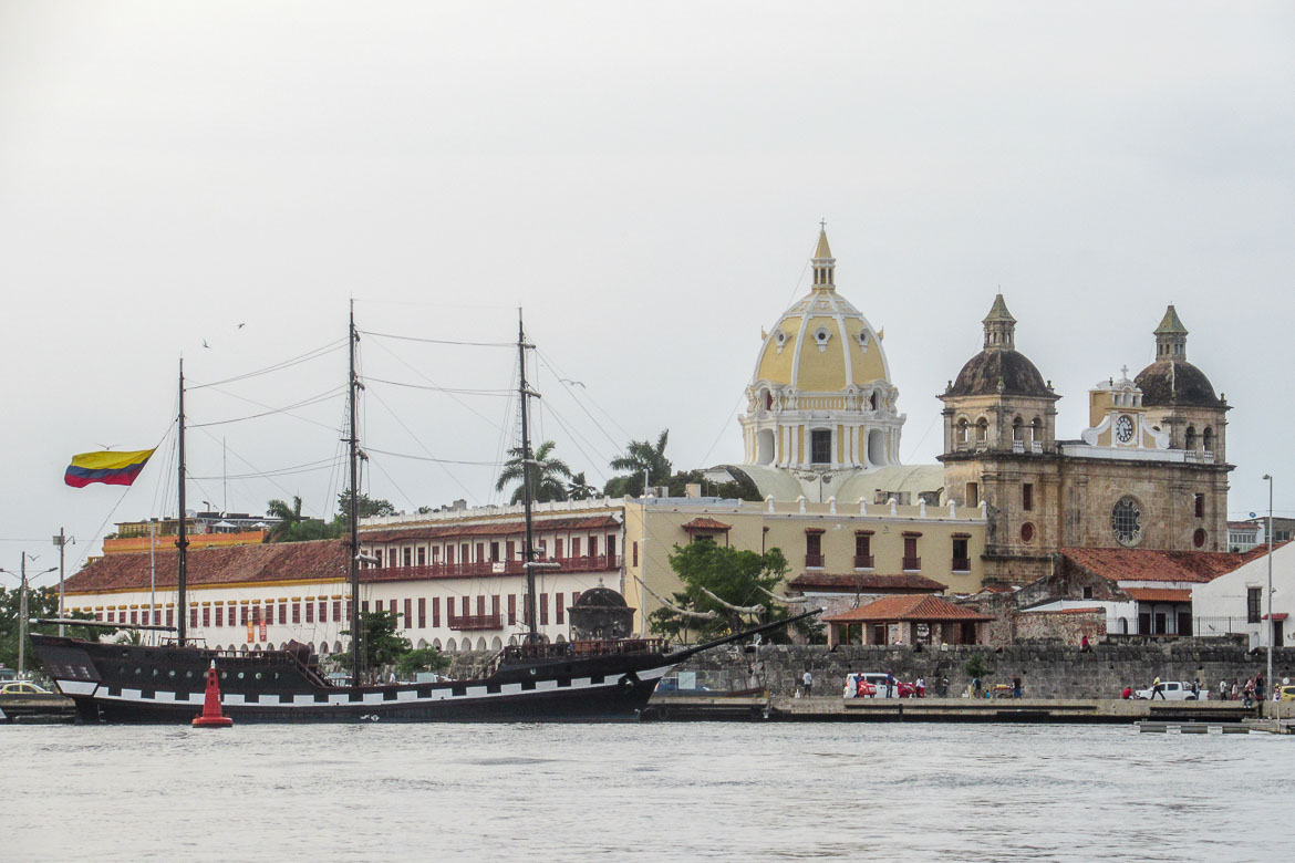 This is a general view of Cartagena from the water.