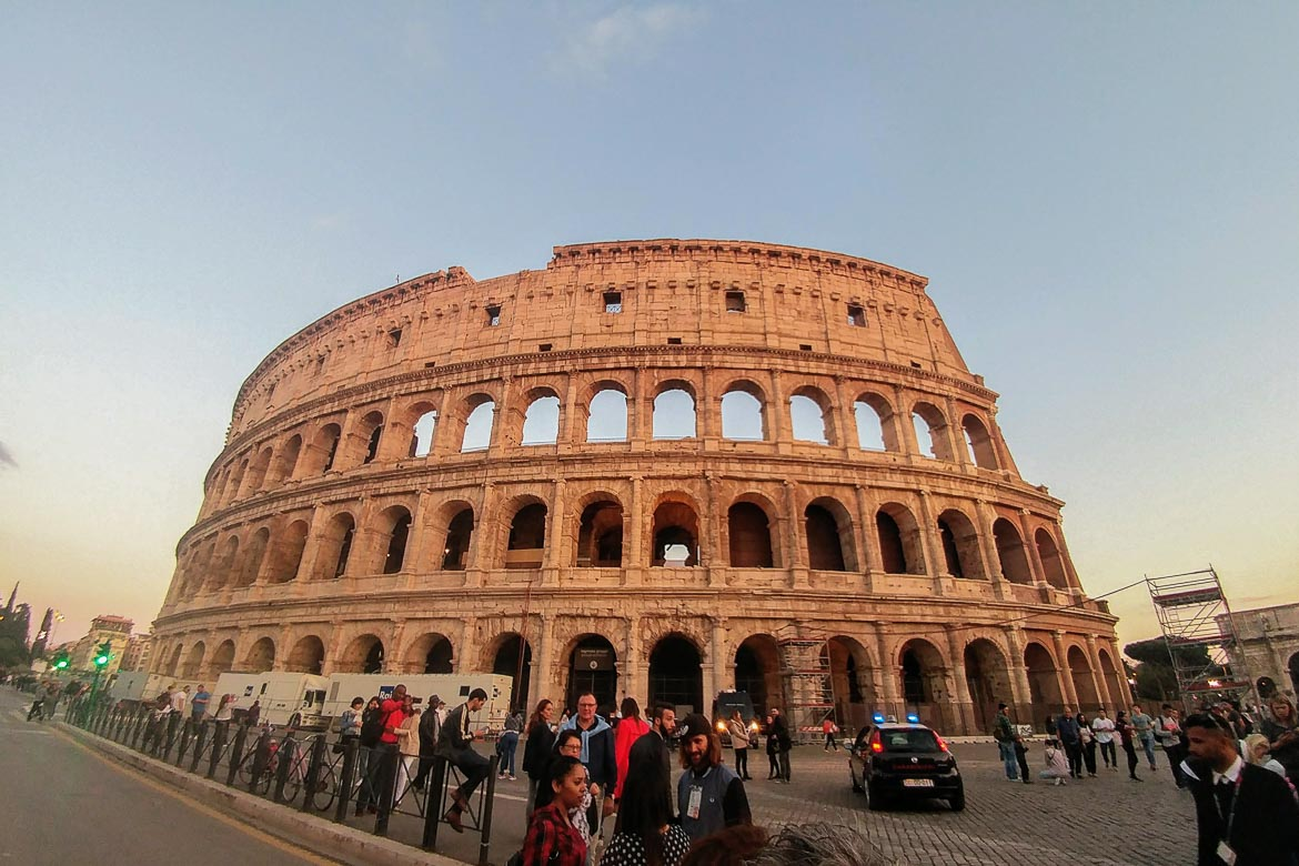 This is an image of The Colosseum, a Roman amphitheatre which is perhaps the most iconic landmark in Rome, Italy, one of the best Easter holiday destinations.