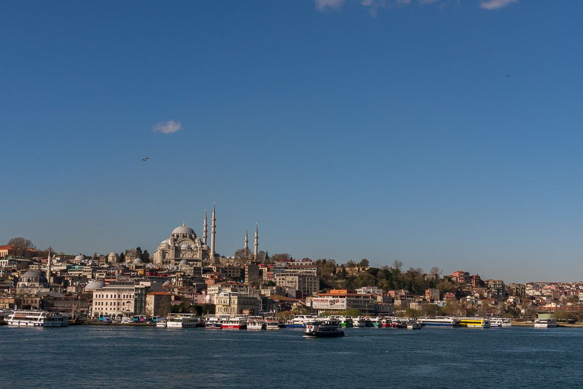 Panoramic view of Istanbul Turkey. Istanbul food guide: Sugar, spice and love.