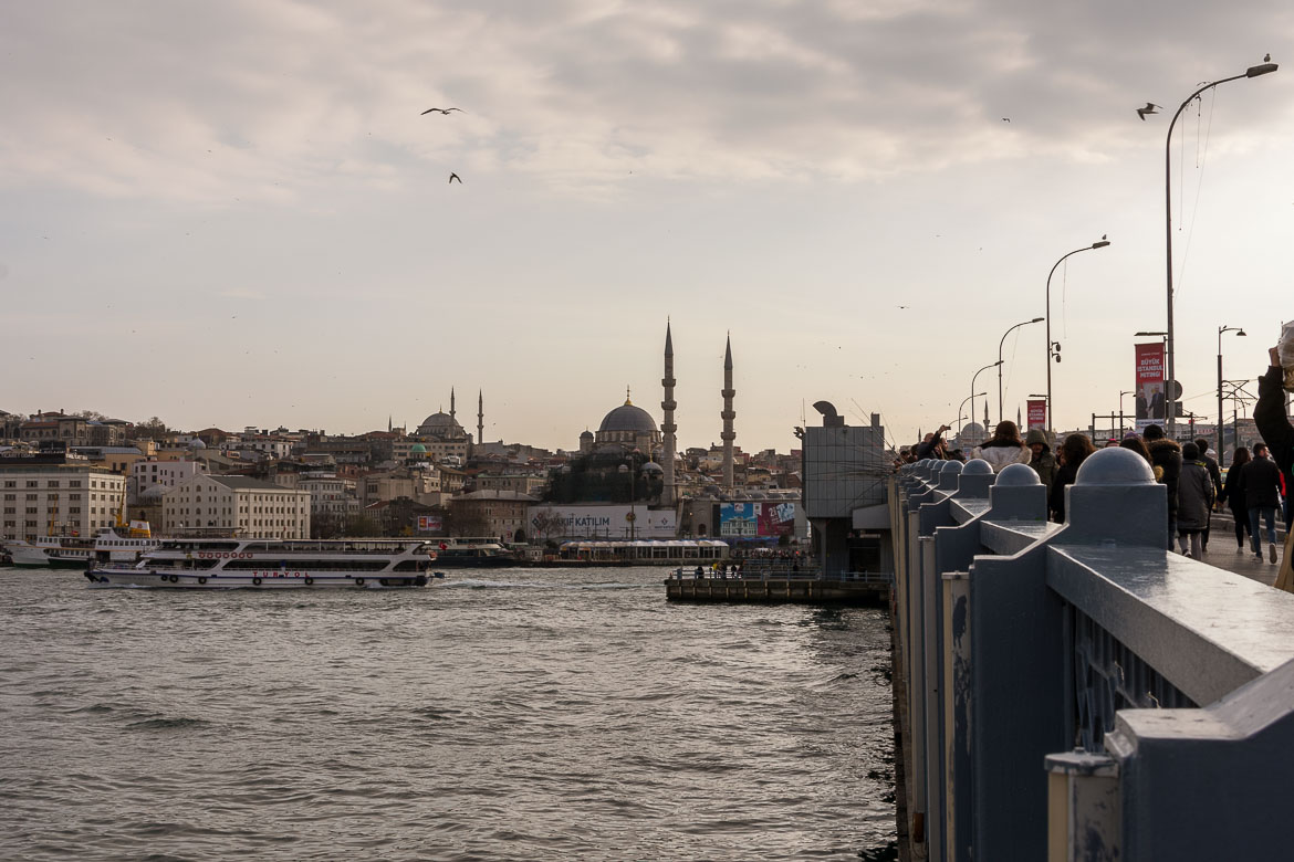 This is a photo of the Galata Bridge in Istanbul during sunset. It is the featured image on our article entitled Best places to stay in Istanbul: neighbourhoods & hotels.