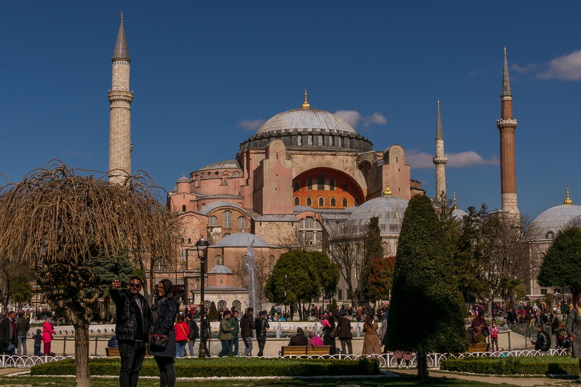 This is an image of the Hagia Sophia museum in Istanbul.