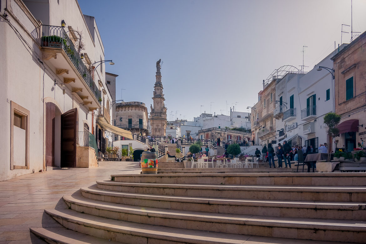 This images shows Piazza della Liberta in Ostuni.