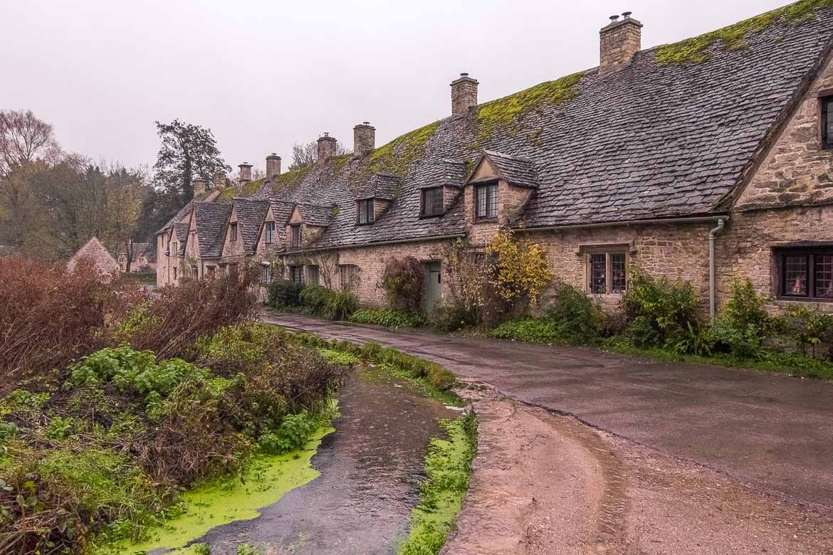 This photo shows the fairytale-like cottages that line Arlington Row.