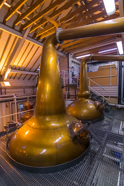 This photo was shot inside the actual distillery.