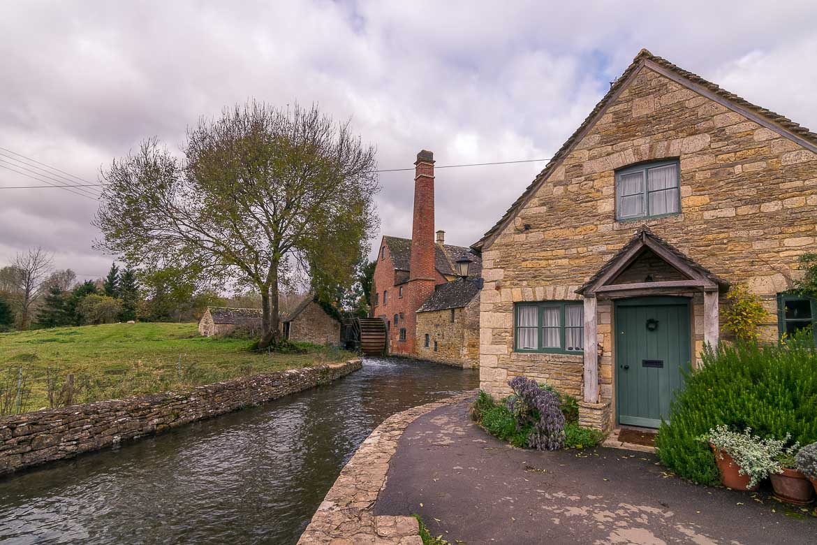 This is the Old Mill at Lower Slaughter. It is a beautiful traditional building with the river flowing right next to it.