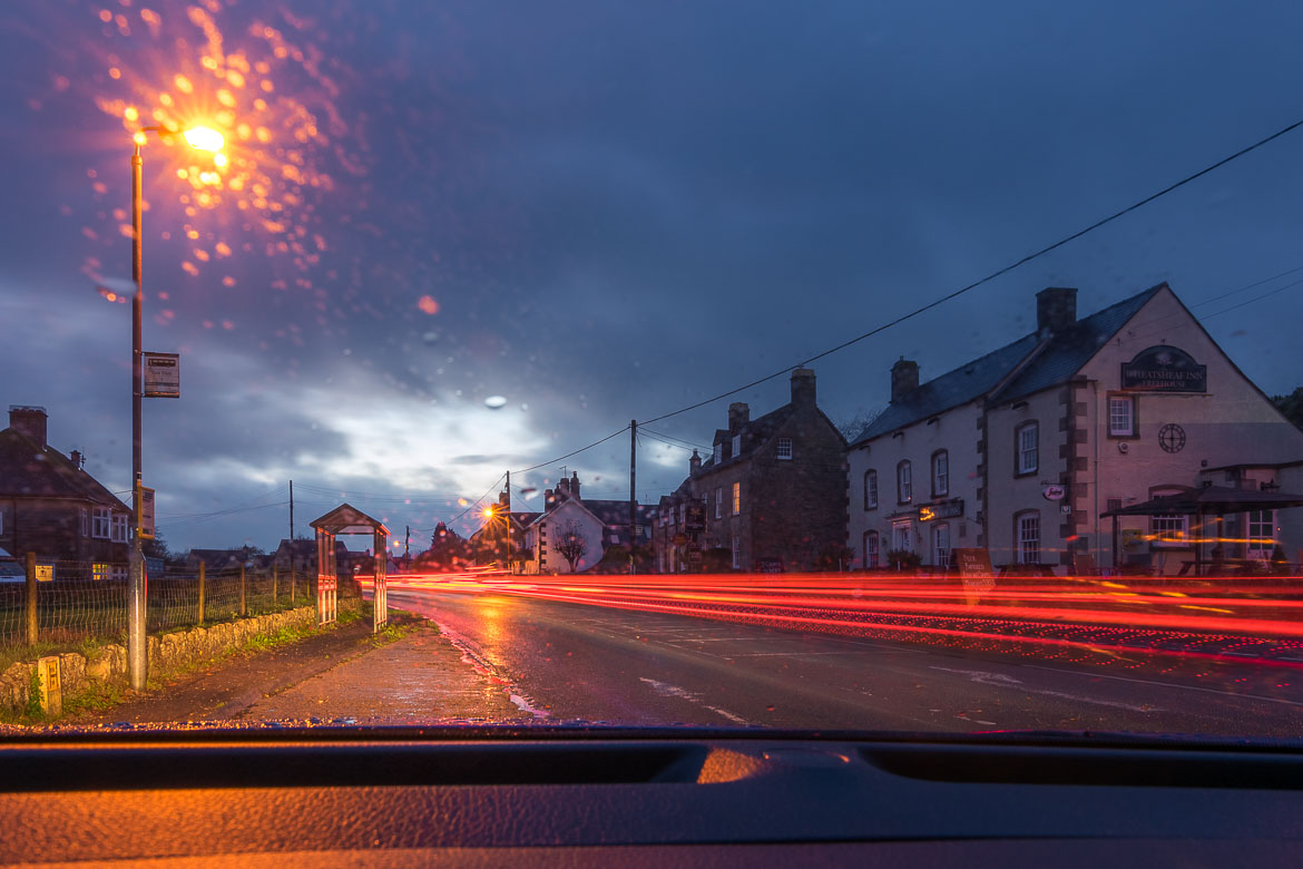This is a long exposure image shot somewhere along the way to Castle Combe.