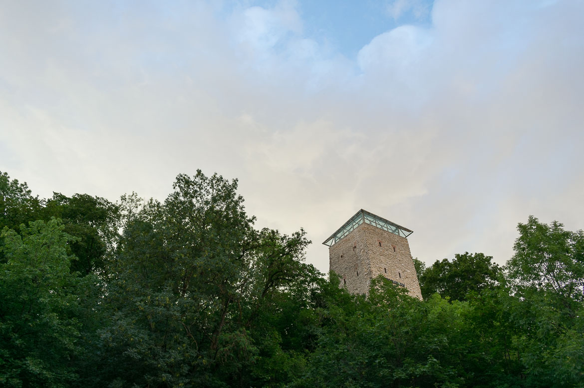 What to do in Brasov Romania in 2 days. The Black Tower, part of the medieval city's defensive fortifications.