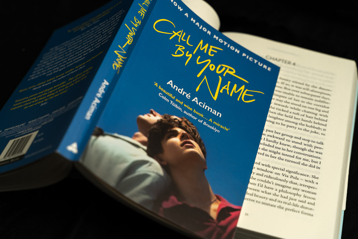 This image shows a paperback edition of Call me by your name by Andre Aciman.