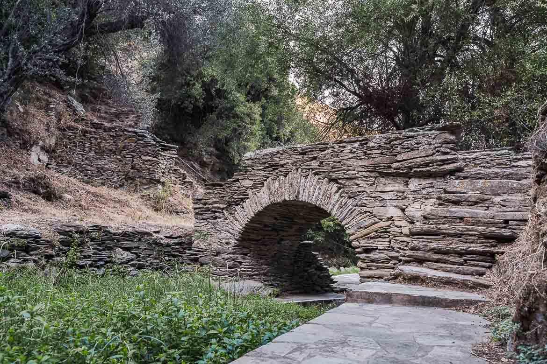 This image shows the stone Bridge of Love in Episkopeio.