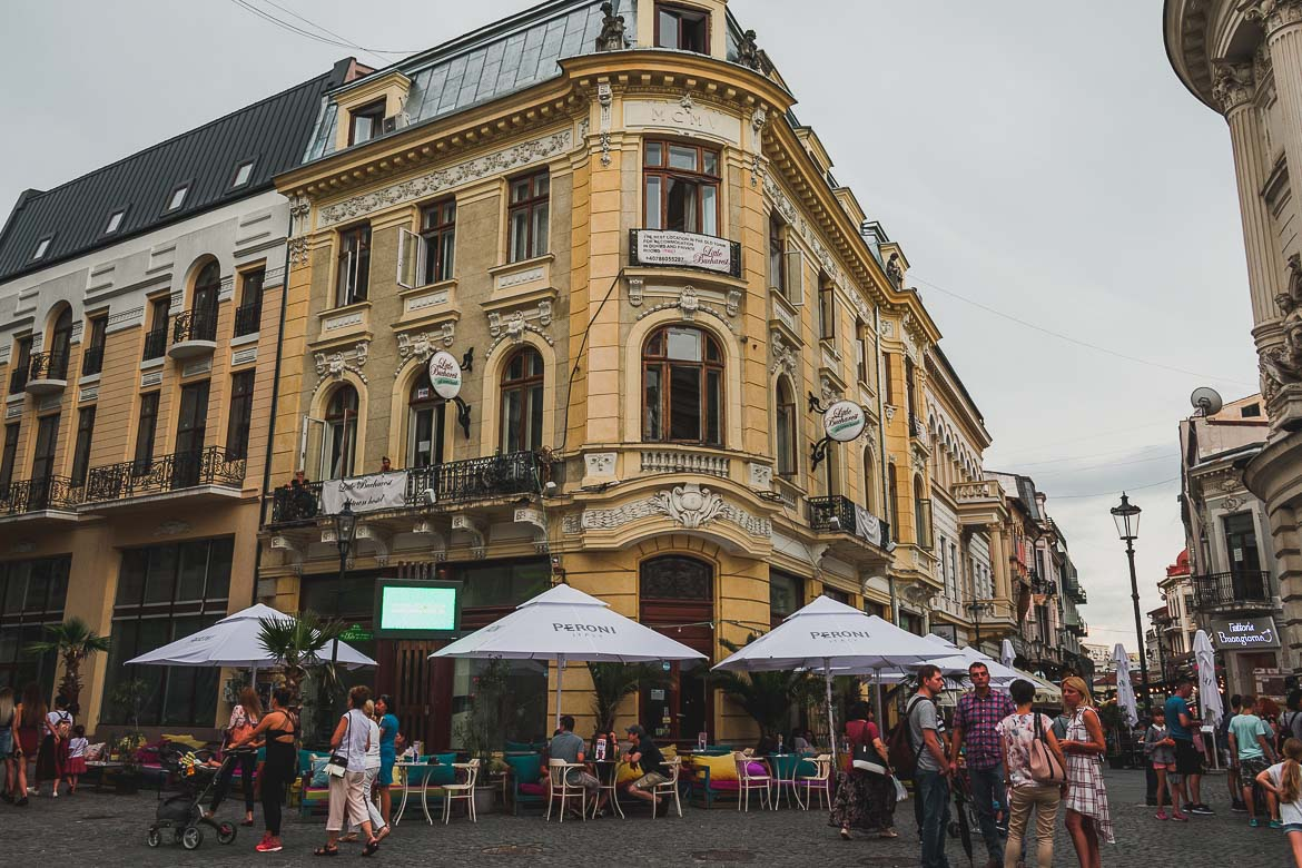 This is a photo of the Old Town, Bucharest, Romania. Top things to do in Bucharest.