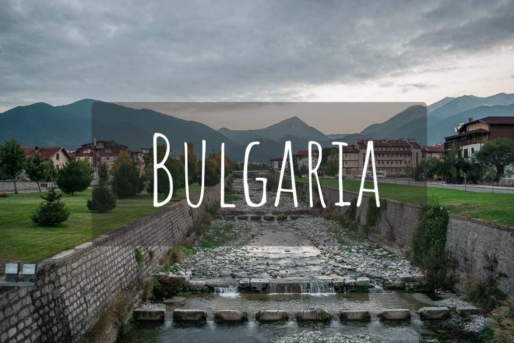 This image shows the river that flows through the city of Bansko and it's the cover photo of Bulgaria as a destination.