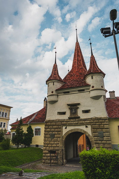 What to do in Brasov Romania in 2 days. Catherine's Gate, the only original gate to the city that has survived since medieval times.