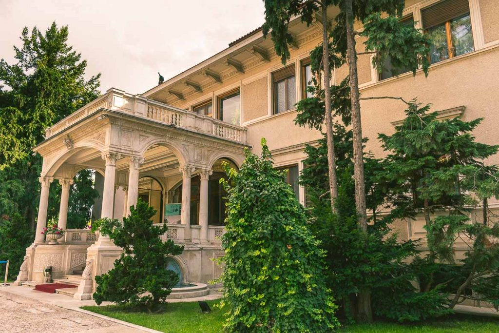 The entrance of Ceausescu residence, in Bucharest, Romania.