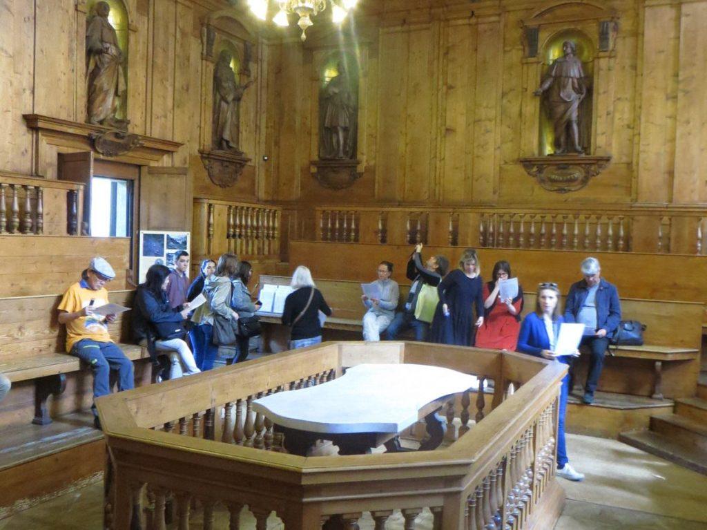 dissection table archiginnasio University Bologna Emilia Romagna Italy