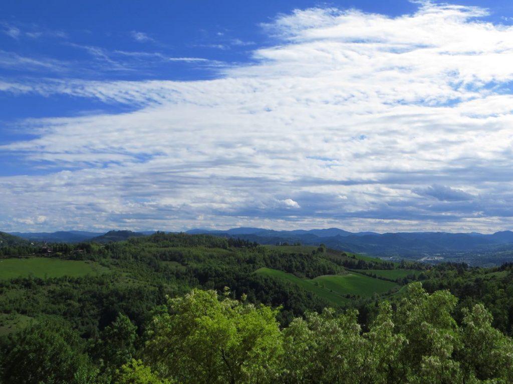 emilia romagna rolling hills bologna view san luca