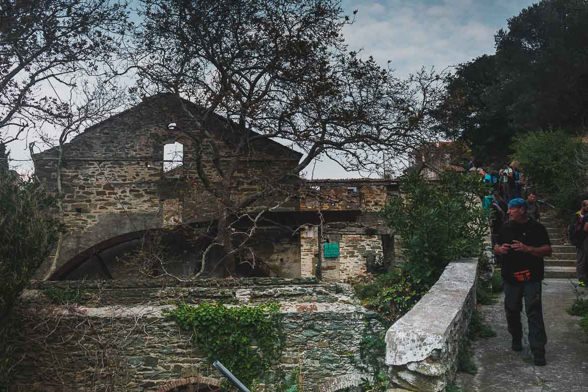 This photo shows Fabrica, the largest watermill on Andros Island.