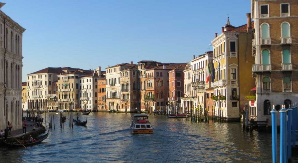 This photo shows the Grand Canal in Venice, Italy. What to do in Venice: our complete guide to La Serenissima.