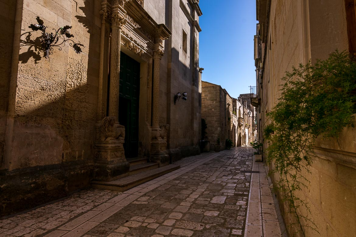 This photo shows a quaint street in Martano in absolute silence during siesta time.