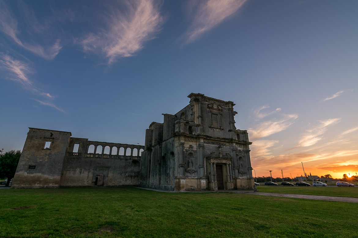 This photo shows the magnificent convent of agostiniani at sunset.