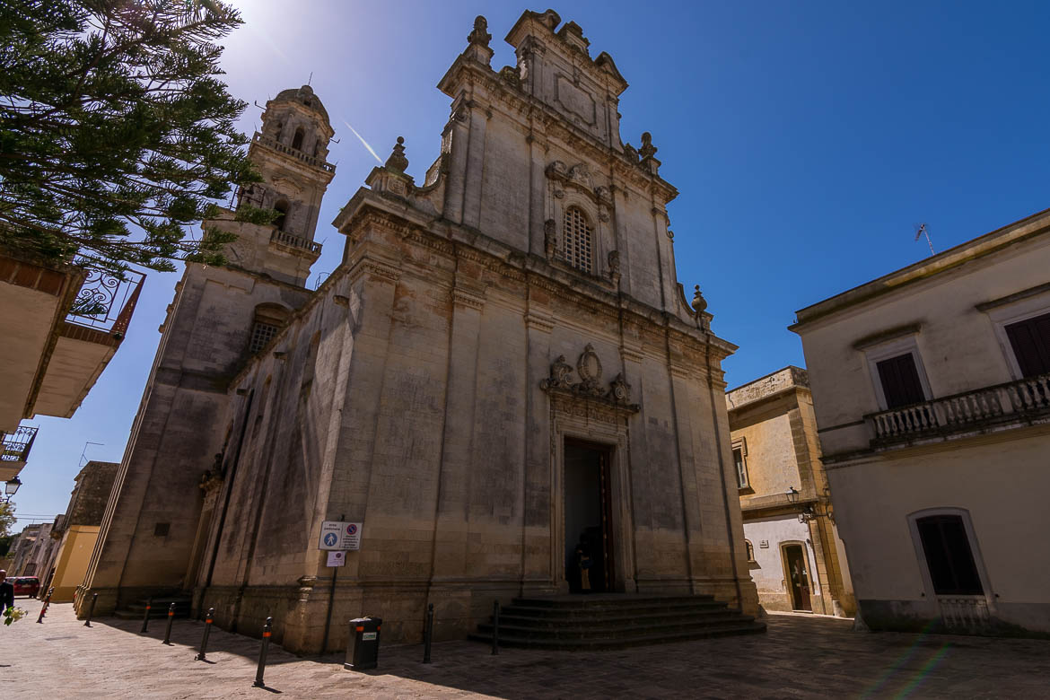 This photo shows the facade of Church of Our Lady of the Assumption in Sternatia.