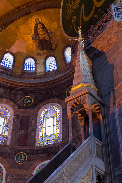 The interior of Hagia Sophia is simply amazing. The best sightseeing tours in Istanbul.