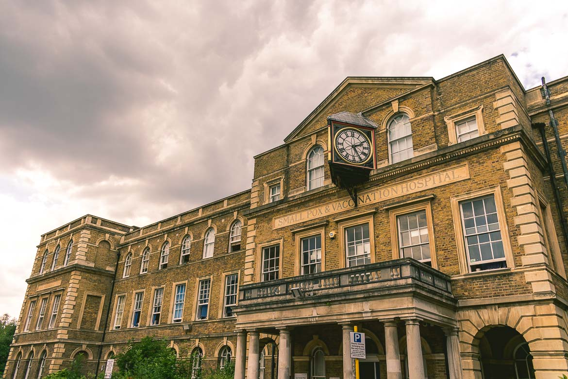 This photo shows the Small pox and vaccination hospital in Highgate, London England. A fine example of Victorian London architecture.