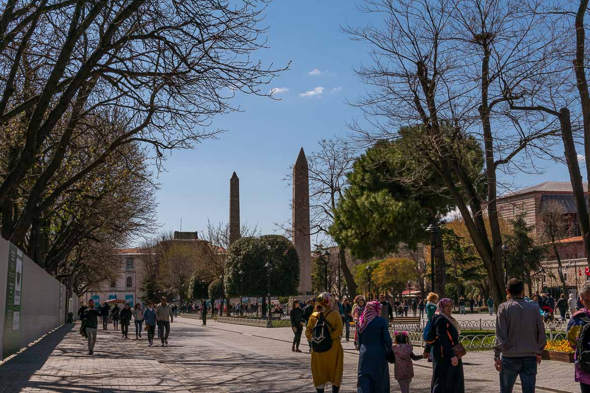 Sultanahmet Square, the former Hippodrome of Constantinople. The best sightseeing tours in Istanbul.