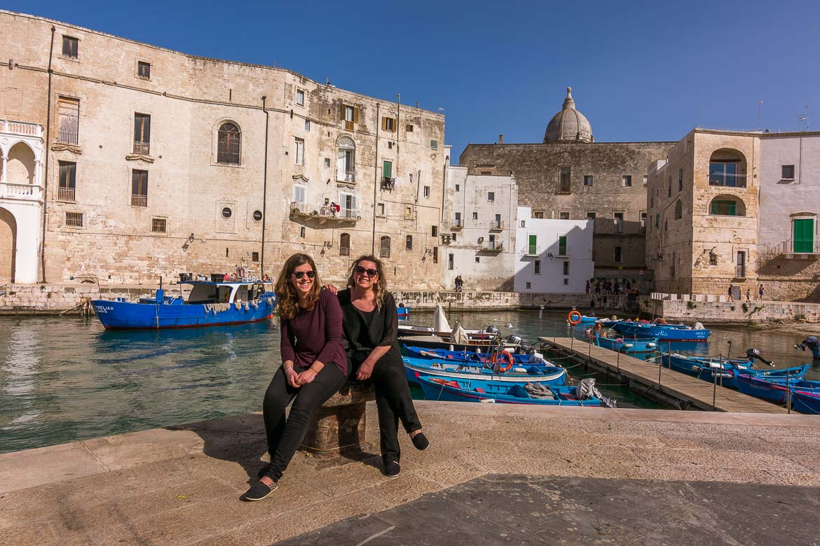 This is a photo of Katerina and Maria in Monopoli Puglia Italy.