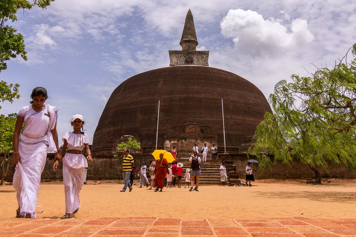 This is a photo of a Buddhist temple in Sri Lanka.