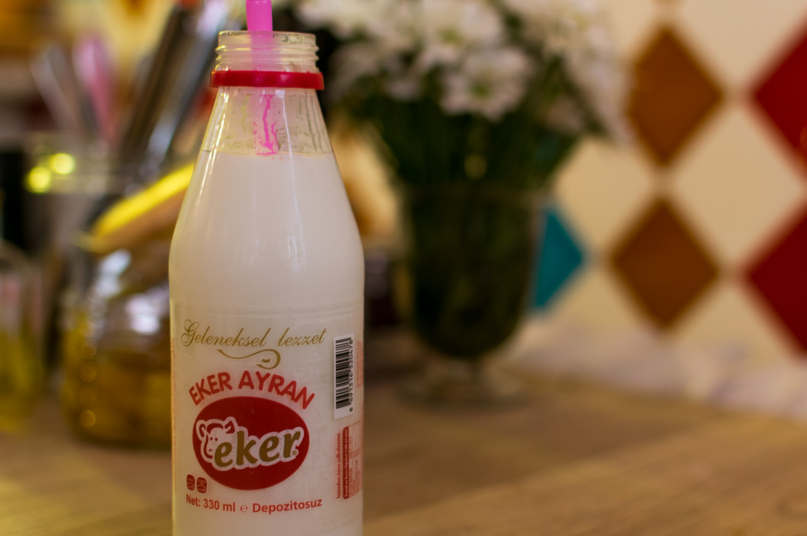 Ayran is a common Turkish drink. It pairs perfectly with spicy food. Istanbul food guide: Sugar, spice and love.