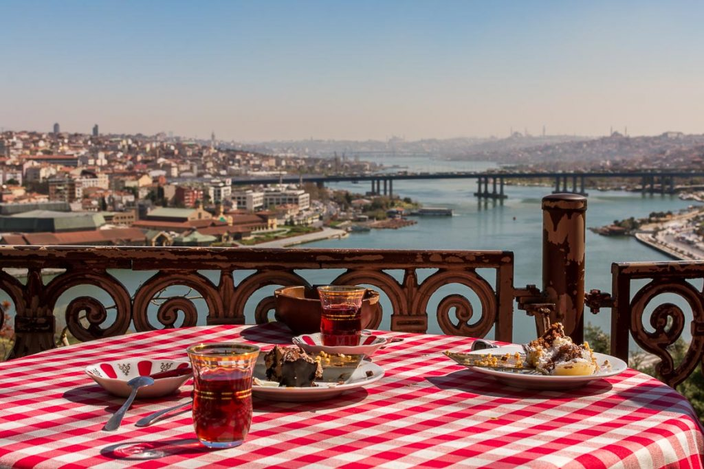 View from Pierre Loti Hill. Istanbul food guide: Sugar, spice and love.