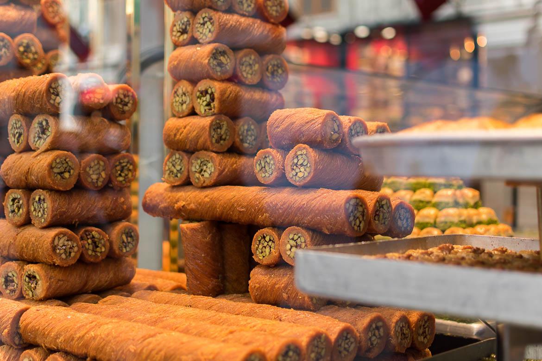 Halep kadayifi is a Turkish baklava-like dessert. Istanbul food guide: Sugar, spice and love.