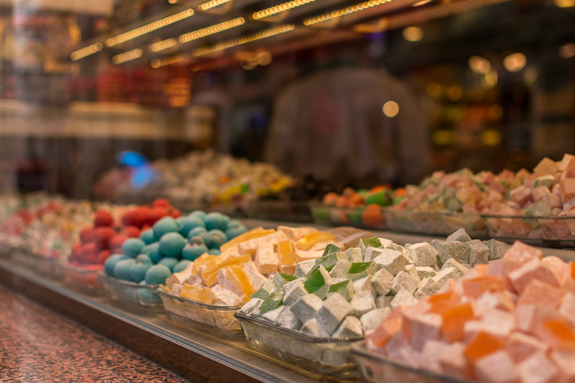 Lokum or Turkish delight is a popular sweet treat in Istanbul. Istanbul food guide: Sugar, spice and love.