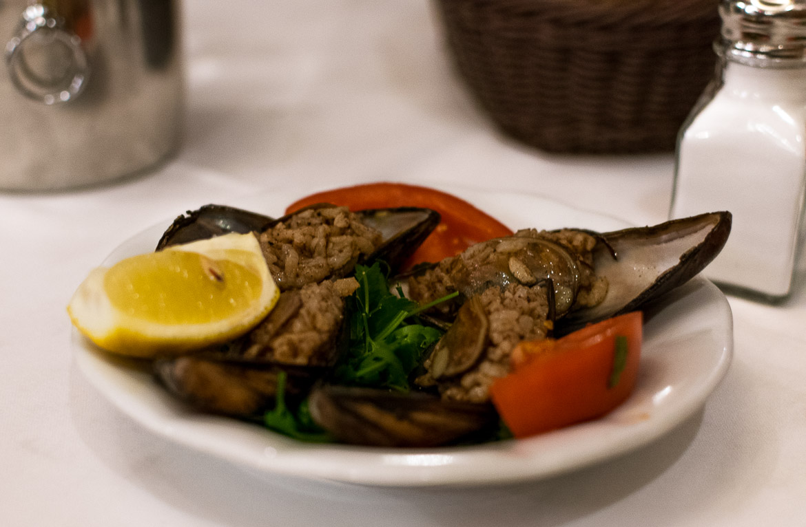 Midye dolma are mussels stuffed with rice. Istanbul food guide: Sugar, spice and love.